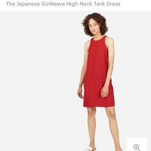 Everlane Go Weave High Neck Tank Dress - Red Sz 2